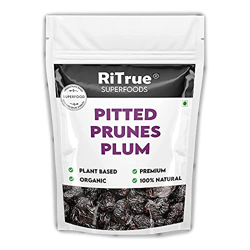 Bluenile RiTrue - Pitted Dried Prunes Without Sugar - 1 Kg Pouch - Dry Fruits (No Preservatives & Additives) - Non Sticky