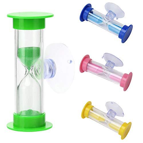 Reloj de arena para niños con temporizador de cristal de arena, temporizador de ducha de 2 minutos, temporizador de ventosa, mini reloj de arena para cepillar los dientes de los niños (verde)