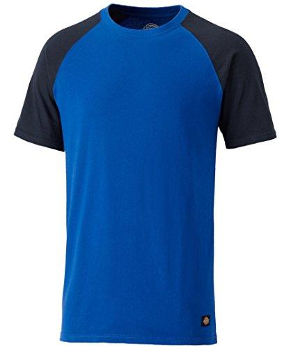 Dickies Footwear SH2007 T-Shirt, 100% Baumwolle, zweifarbig, Königsblau/Marineblau, Größe XXL