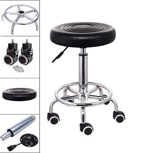 ZGYQGOO Runder Salon-Massagestuhl Einstellbarer schwenkbarer hydraulischer Gaslift-Hocker für Friseur Maniküre-Tätowierungs-Therapie-Schönheits-Massage-Badekurortsalon