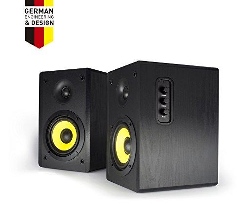 Thonet and Vander Kurbis BT Bluetooth Bookshelf Speakers (340 Peak Watts) Active Near-Field Studio Monitors - Hi-Fi 2.0 Speaker System (Integrated Amp) German Engineered - 60W RMS
