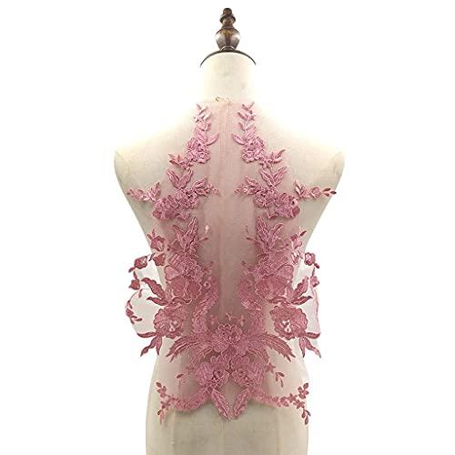 SCDZS Grande Fleur de Dentelle de la Dentelle à Broder Applique Couture Collier Floral Patch Robe de mariée vêtements de mariée Robe DIY Tulle Artisanat (Color : C)