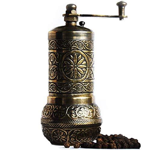Türkische handgefertigt Mahlwerk, Gewürzmühle, Salzmühle, Pfeffermühle 10,7cm Casual 4.2'' 3-Antique Gold
