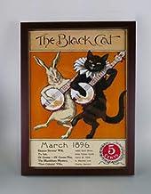 BiblioArt Series クラシックポスター「The Black Cat, March(1896)」額装品