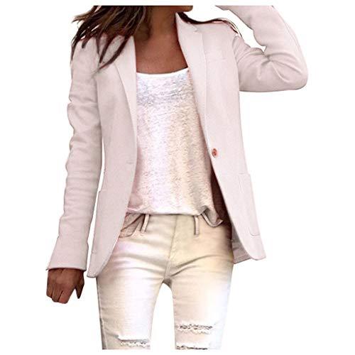 Toamen Giacche e Cappotti Donna Casual Blazer Vendita Donne Slim Corto Coat Blazers Donne Plus Taglia Abbigliamento(Rosa,M)