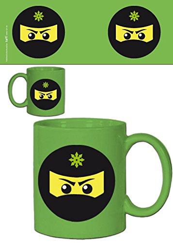 1art1 Gaming, Ninja Icon, Grün Foto-Tasse Kaffeetasse (9x8 cm) Inklusive 1x Überraschungs-Sticker