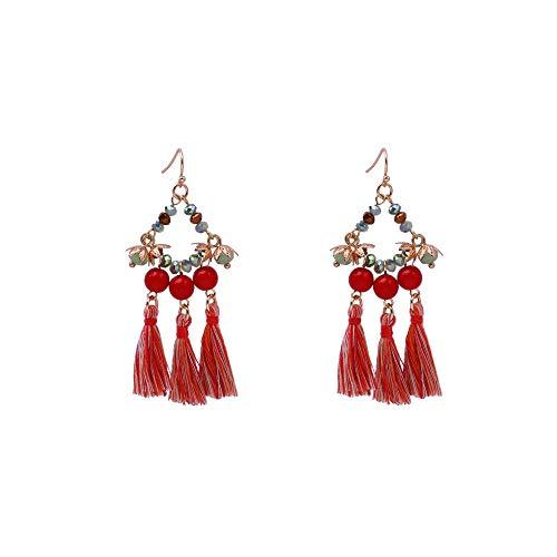 ZRDMN pendientes de botón colgantes joyas de gota para el oído para las mujeres Drop Dangles - Sparkly Long Dangly Earrings