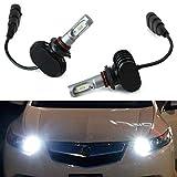 iJDMTOY 50W High Power 9005 HB3 LED Headlight Bulbs w/ Decoder Wiring As High Beam Daytime Running Light Conversion, Compatible With Acura ILX RSX MDX TL RL Honda Accord Civic CRV CRZ, etc