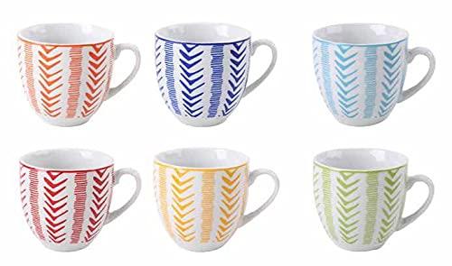 Juego de 6 tazas de café Djerba Color sin platillos de cerámica
