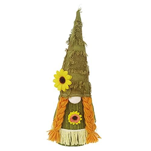 Wichtel Zwerg Gnom Sonnenblume Puppe Plüsch Herbst Bienenelfen Deko Festliche Geschenke Ostern Tischdekoration Basteln Deko Zuhausedekoration Haus Dekor