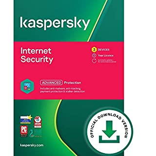 Kaspersky Internet Security 2021 | 3 Devices | 1 Year | PC/Mac/Android | Online Code (B076D1YSD4) | Amazon price tracker / tracking, Amazon price history charts, Amazon price watches, Amazon price drop alerts