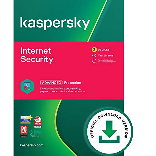 Kaspersky Internet Security 2020 | 3 Devices | 1 Year [Download]