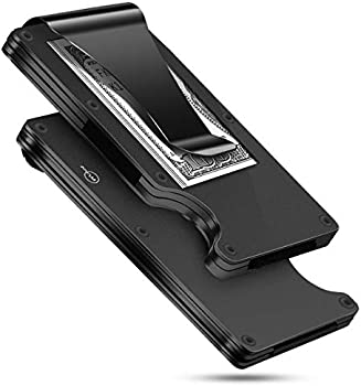 MUCO Slim Metal RFID Blocking Minimalist Wallet w/Money Clip (3 colors)