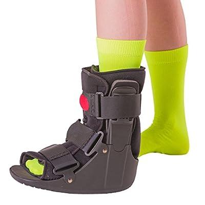 BraceAbility Short Air Ankle Walker Boot | Medical-Grade Orthopedic Foot Cast Brace for Sprained Ankle, Broken Foot, Toe Injury, Metatarsal Stress Fracture, Post Surgery, Achilles Tendonitis (M) by BraceAbility