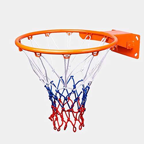 Red de baloncesto de alta resistencia, red de baloncesto de nailon duradera profesional de 12 vueltas, adecuada para soporte de baloncesto en interiores o exteriores, aro de baloncesto hueco, 2,5 kg