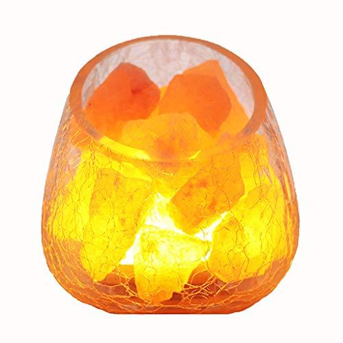 Lámparas de Escritorio Sal del cristal lámpara de luz la noche de Rose Mineral dormitorio de noche Noche regalo de la yoga Oficina Luz Iluminación for el hogar Lámpara de Mesa