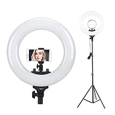 "Tolifo 14"" Bi Color LED Ring Light with Stand,C..."