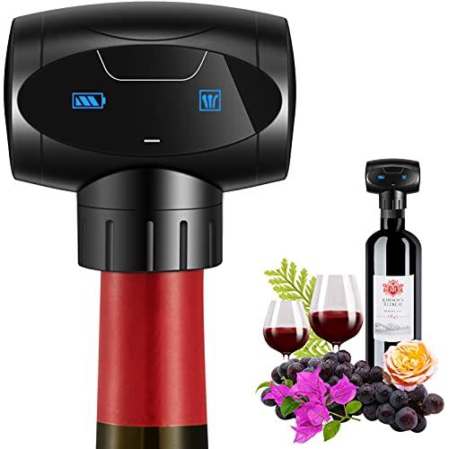 nincyee Tapón de Vino Eléctricos,Tapones Automáticos para Botellas de Vino al Vacío,...