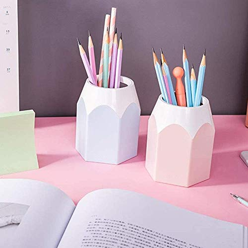 Wisedeal Creative Pencil Tip Design Pen Holder (Pink) (1, Pink) Photo #4