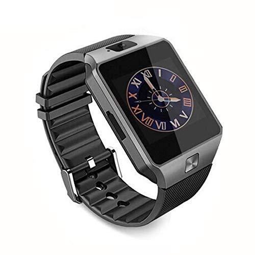 QiKun-Home DZ09 Reloj de Pulsera Inteligente Soporte para cámara de teléfono SIM TF gsm para Android para iOS Soporte para teléfono en Varios Idiomas Negro