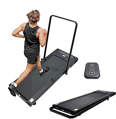 Tapis Roulant Camminatore Slim FFitness 12 KH/h 2.5 HP Fitness Elettrico Pieghevole Scrivania Salvaspazio Offerta Casa Palestra, Nero, Taglia Unica