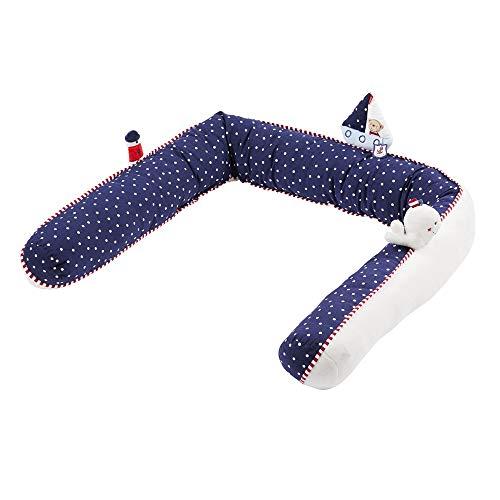 Fehn Ocean Club 078862 Tour de lit doux pour lit de bébé, lit d'enfant, parc, berceau pour bébé et enfant à partir de 0 mois