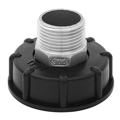 Adaptador IBC de 1000 L, de acero inoxidable, para grifos de drenaje de jardín, interruptor de riego, herramientas (3/4', 1/2', 1 pulgada para Choose) (1 pulgada de cable superior)