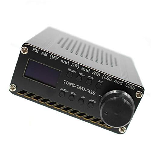 Radio Receiver Vollbereich- Receiver Si4732 FM AM SSB Airband Funkempfänger Scanner beweglicher Hand Radio Recorder Schwarz