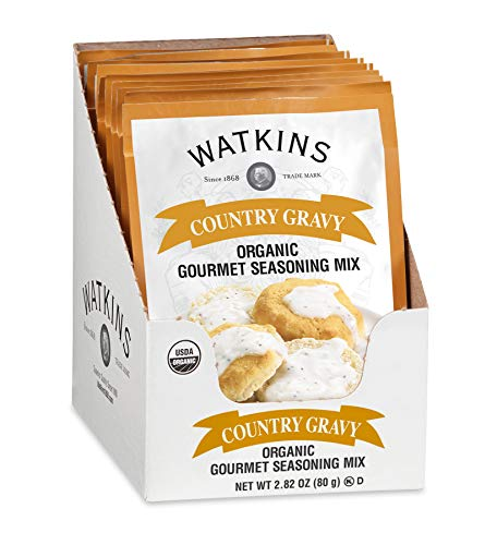 Watkins Organic Country Gravy Gourmet Seasoning Mix, 2.82 oz. Packets (Pack of 6)
