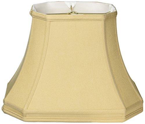 Royal Designs Eck-Lampenschirm, rechteckig, gold, (6 x 8) x (9 x 14) x 10.5