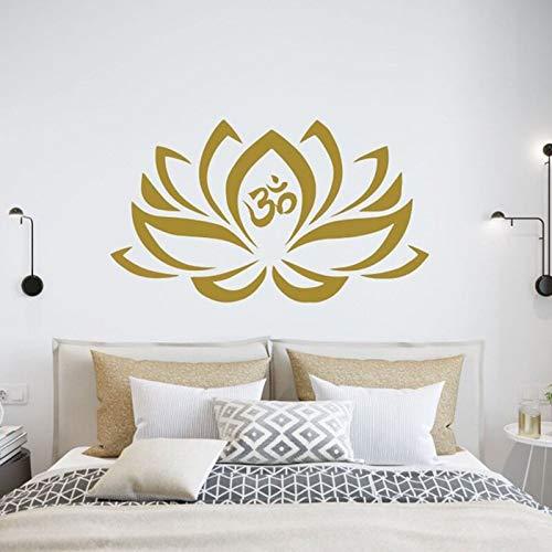 Yoga Logo Zeichen Om Lotus Blume Vinyl Wandaufkleber Kunst Aufkleber Schlafzimmer Namaste Mandala Dekoration Yoga Studio Boho Bohemian Poster Wandbild