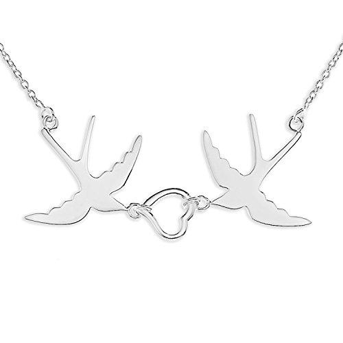 B1001620946 - Collana da donna, argento sterling 925, 457 mm