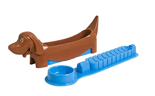 Evriholder, Hot Dog Holder and Slicer Snacks, Fun Lunches for Kids, Colors May Vary-Blue or Green