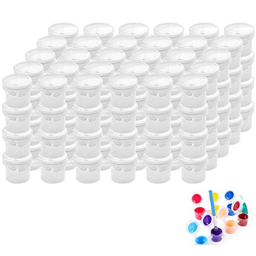 Mini Farbtopf Malerei Kunsthandwerk Leere TöPfe Klassenzimmer Farbtopf TöPfe TöPfe AufbewahrungsbehäLter Streifen Farbstreifen 6 ZusammengefüGte Farbgitter Weiß (20 StüCk), Insgesamt 120 Gitter