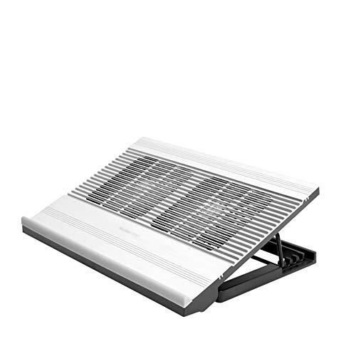 Xbd Refrigerador portátil,Base de Refrigeración para Ordenador Portátil,Velocidad del Viento Ajustable,Ajuste de Altura de 4 Niveles,Adecuado para computadoras portátiles de 18 Pulgadas o Menos