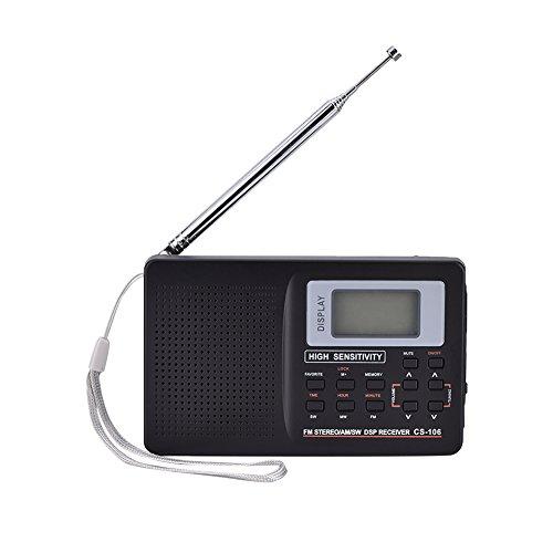 FM/AM/SW/LW/TV Sound Full Band Receiver Receiving Radio Alarm Clock