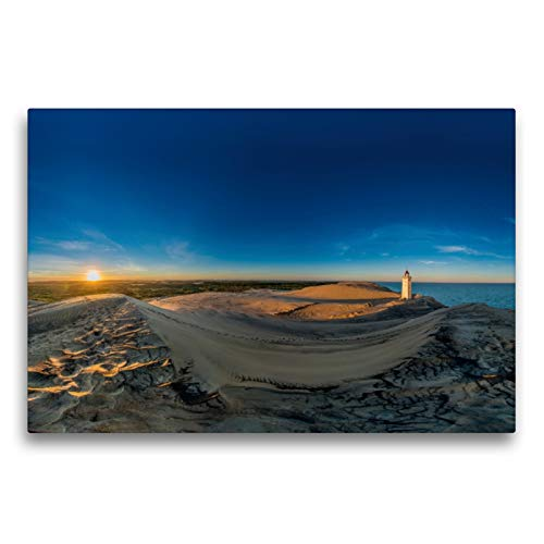 Premium Textil-Leinwand 75 x 50 cm Quer-Format Rubjerg Knude Fyr | Wandbild, HD-Bild auf Keilrahmen, Fertigbild auf hochwertigem Vlies, Leinwanddruck von strandmann@online.de
