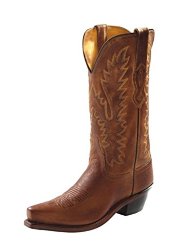 Old West Tan Canyon Womens All Leather 12in Snip Toe Cowboy Western Boots 9 B