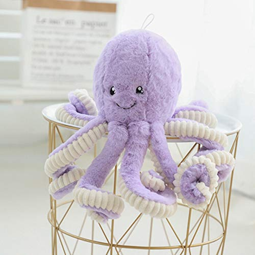 NMFIN Octopus Plush Doll|Stuffed Soft Toy Animal|Simulation Octopus Education Play Toys|Ocean Animals Plush Pillow for Kids Girl Boy Birthday Xmas Gift Present-Purple
