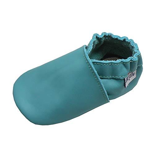 Mejale Baby Soft Sole Lederschuhe Kleinkind Mädchen Jungen Mokassins Schuhe Kleinkind Walker Hausschuhe Schuhe 19/20 EU(6-12 M Monat,Grün)