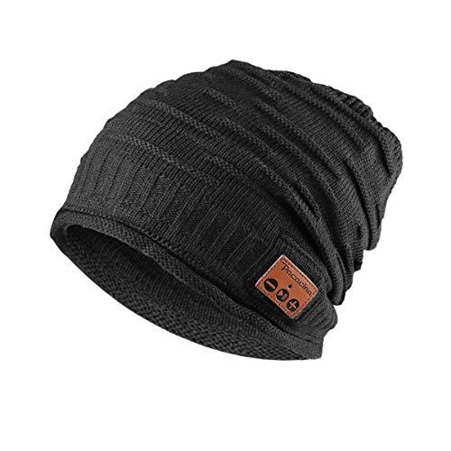 Pococina Wireless Beanie Headphones Music Hat Cap for Men Women Teens - 012 Grey