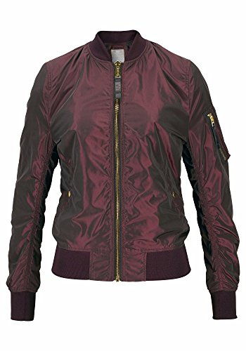 Alpha Industries MA-1 LW PM Iridium Women Jacket Bomberjacke 176002, Größe:S;Farbe:burgundy