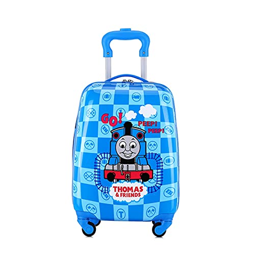 SHJKL Dibujos Animados Maleta niño, Muchacho Y Niña Viaje de Suitcase, Carro De Cáscara Dura Ligera, Pequeña Maleta con 4 Ruedas, 18 Pulgadas,Cartoon HH