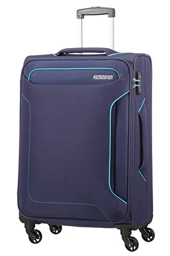 American Tourister Holiday Heat Valigia, Spinner M (67cm-66L), Blu (Navy)