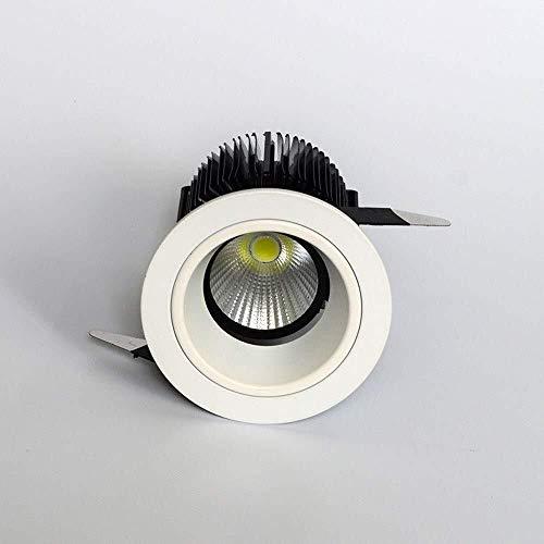 Lyuez LED embedded paneel plafondverlichting binnen Aisle etalage plafond-schijnwerper 7W / 12W ronde inbouwdownlights inbouw anti-glare spotlight Ultra Bright (kleur: 12w)