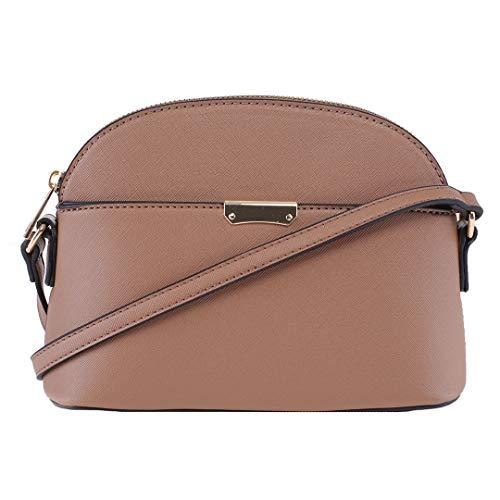 EMPERIA Ava/Eva Kleine Süße Saffiano Vegane Kunstleder Kuppel Crossbody Taschen Schultertasche Geldbörse Handtaschen für Frauen