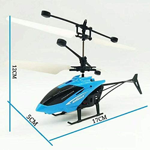 Novel Induction Helicopter Flight Toy Induction Remote Control Infrarot Helicopter Aircraft Luminous Toy (bule06)