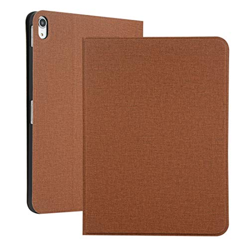 Dmtrab Fabric Texture Horizontal Solid Leather Case for iPad Pro 11 inch, with Holder & Sleep/Wake-up Function (Brown) Sleeves (Color : Brown)