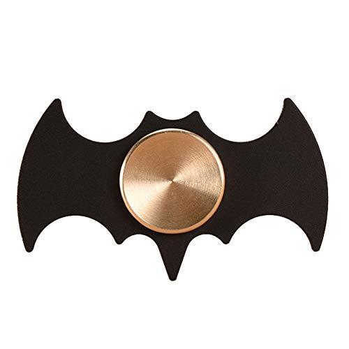 OKZH Giroscopio Giocattolo, Nero Batman Fidget Spinner Metallo Spinner Balance Toys Batman Bat Forma Fidget Spinner Spinner Mano, per Adulti Stress Relief