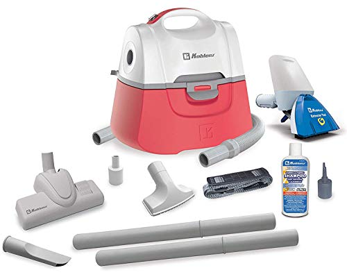 Best Buy! Koblenz Total Cleaning Combo 2-in-1 Vacuum, White/Red